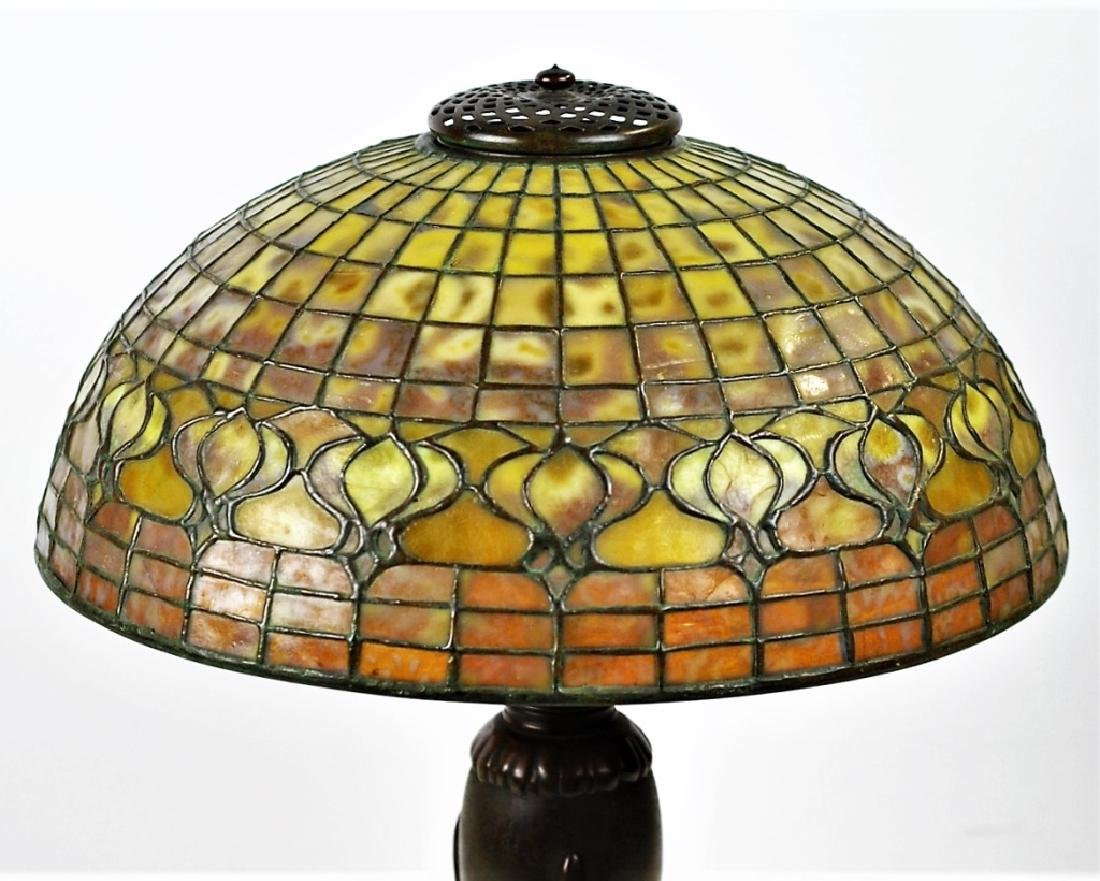 Tiffany Studios Leaded Glass Geometric Table Lamp - 5