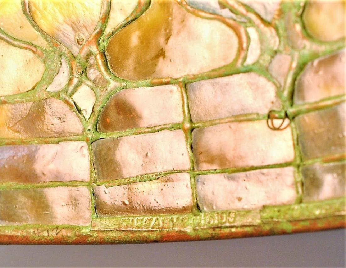 Tiffany Studios Leaded Glass Geometric Table Lamp - 7