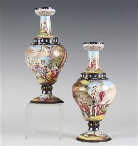 PR Hermann Boehm Viennese Enamel Vase FINE QUALITY