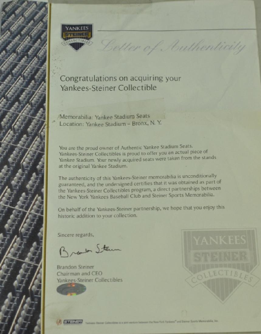 PR New York Yankee Baseball Stadium Chairs Seats #2, #3 - 6