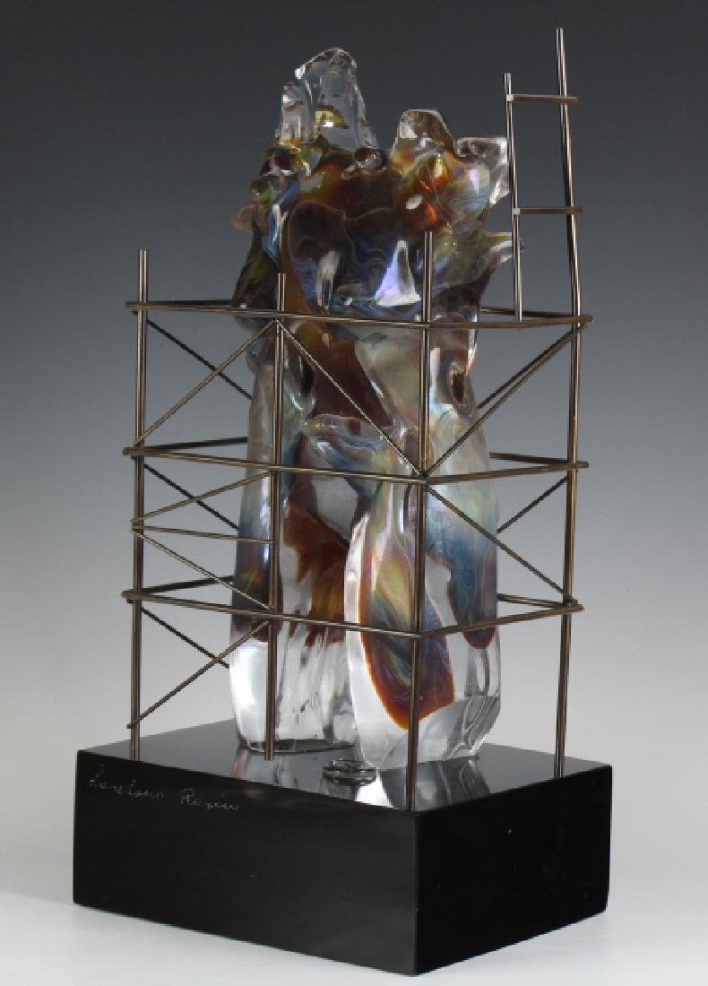 Loredano Rosin Murano Art Glass Nude Sculpture