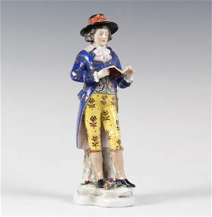 Fine Antique Continental Porcelain Man Figurine