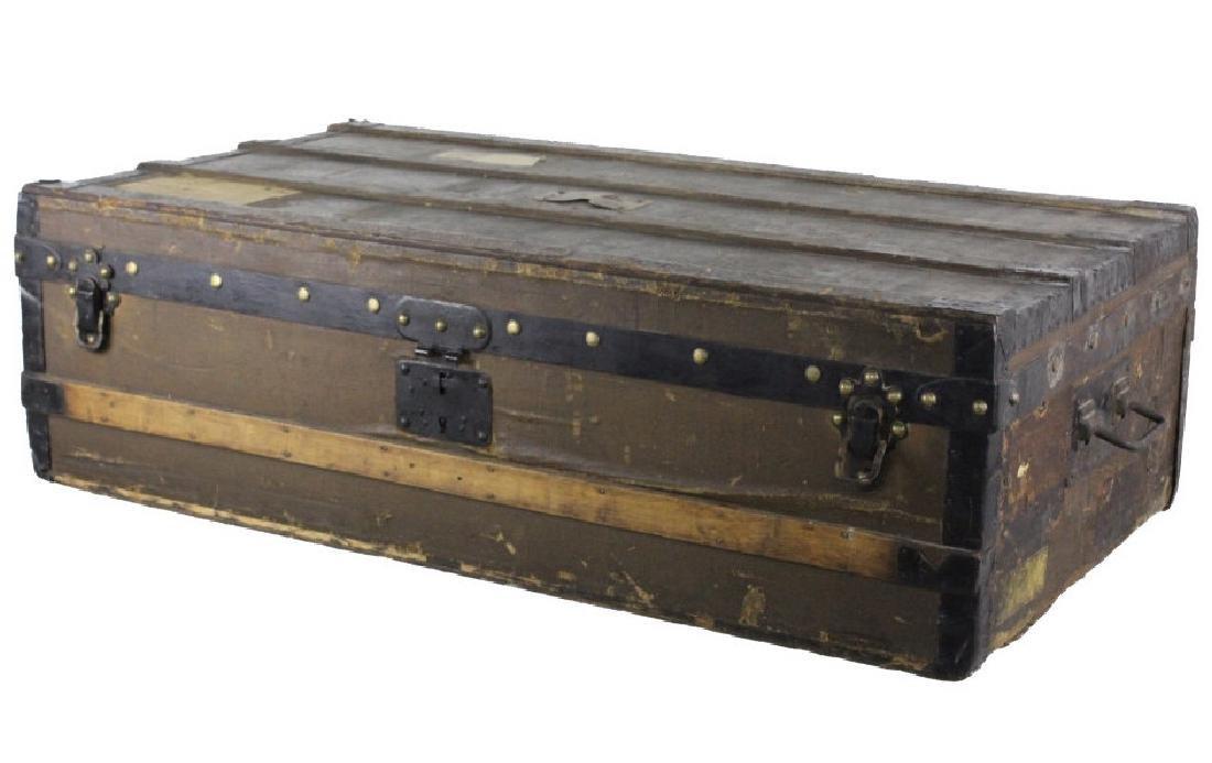 LOUIS VUITTON Steamer Wardrobe LV Hard Trunk c1900