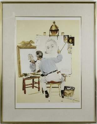 Norman Rockwell Self Portrait Illustration Print