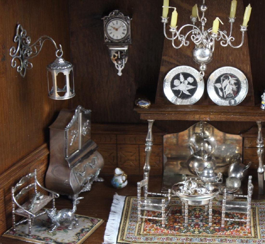 37p Miniature Silver Furniture Antique Diorama Set - 2
