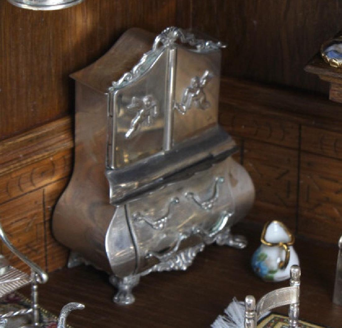 37p Miniature Silver Furniture Antique Diorama Set - 3