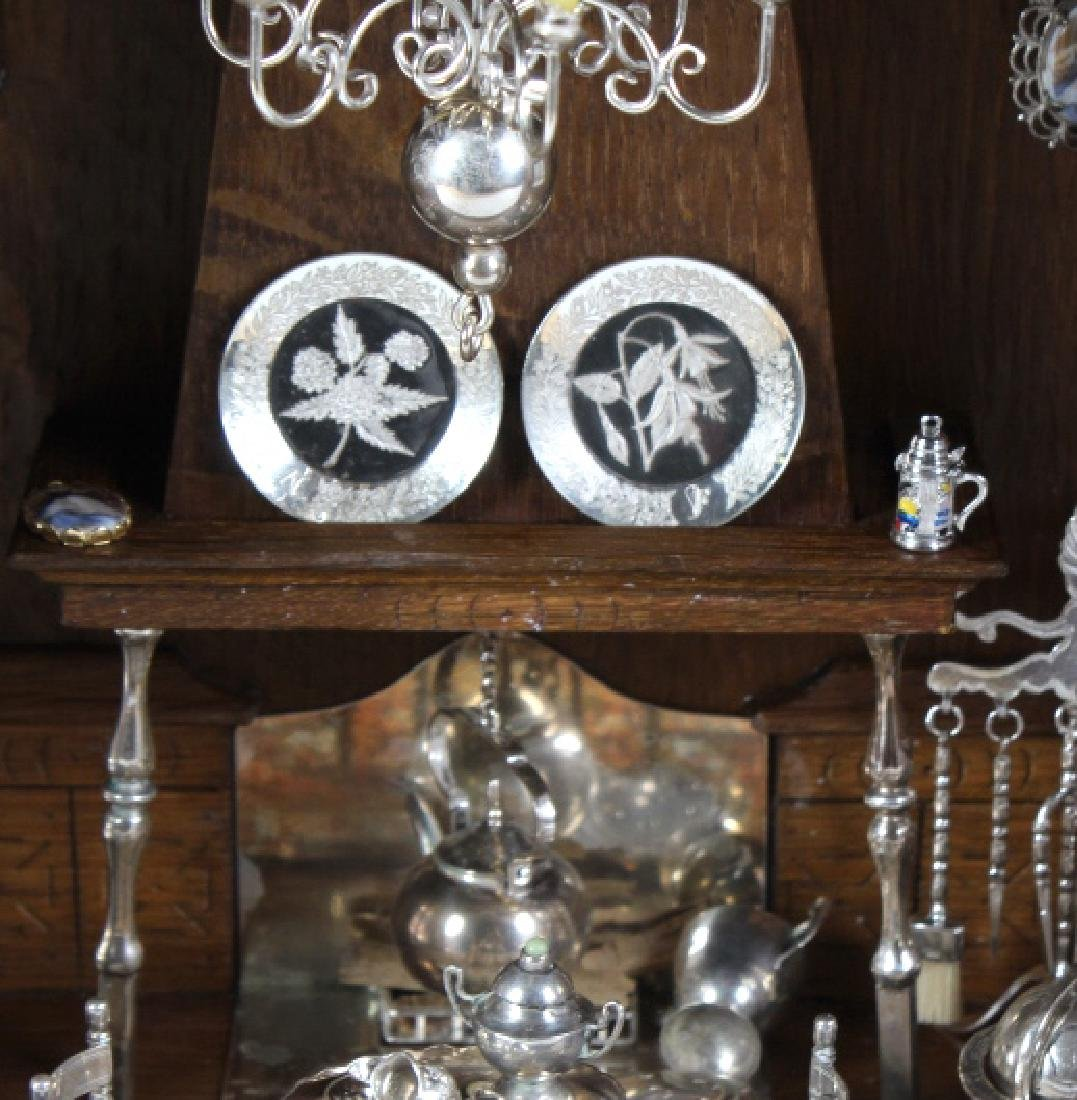 37p Miniature Silver Furniture Antique Diorama Set - 4