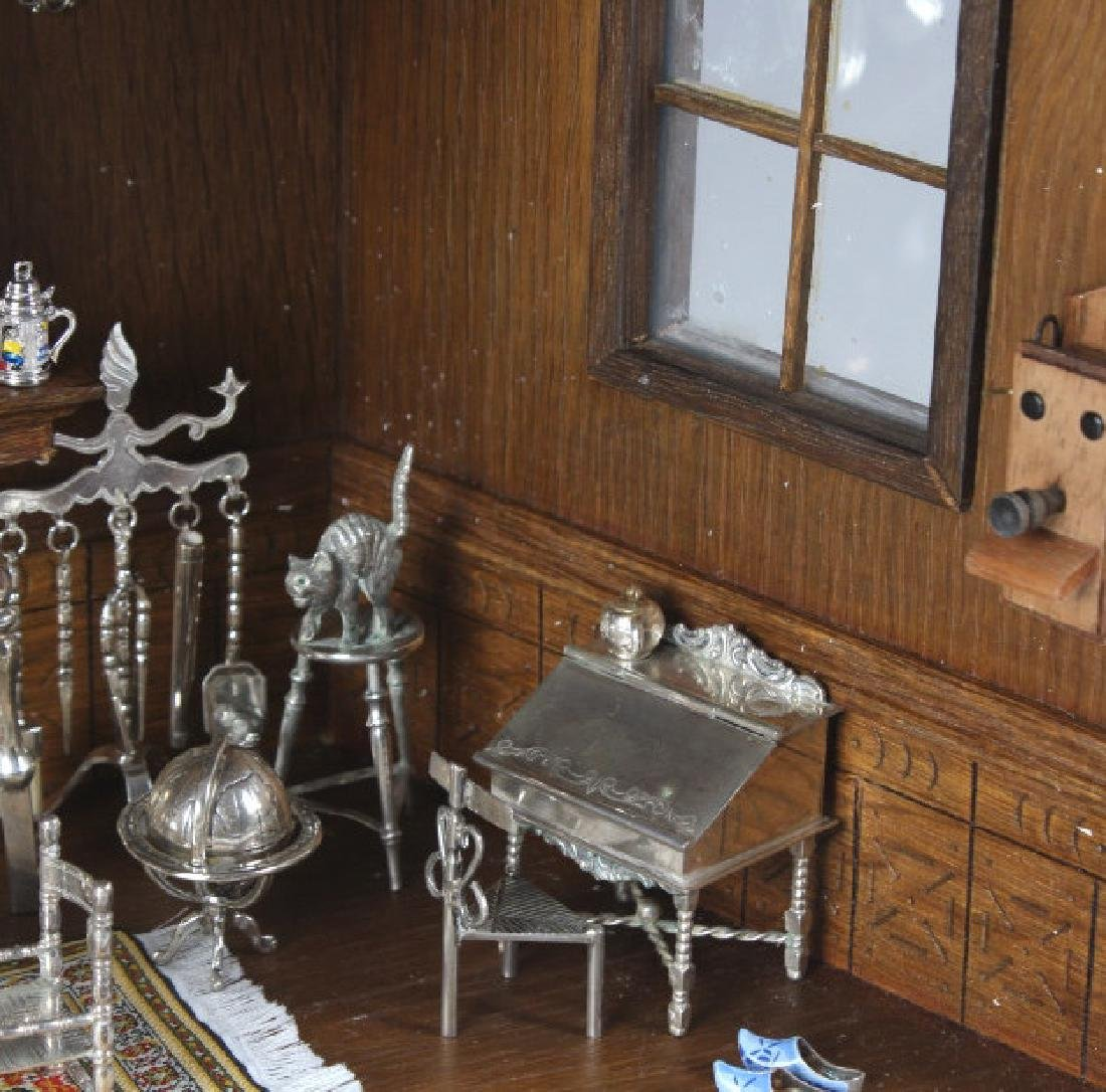 37p Miniature Silver Furniture Antique Diorama Set - 5