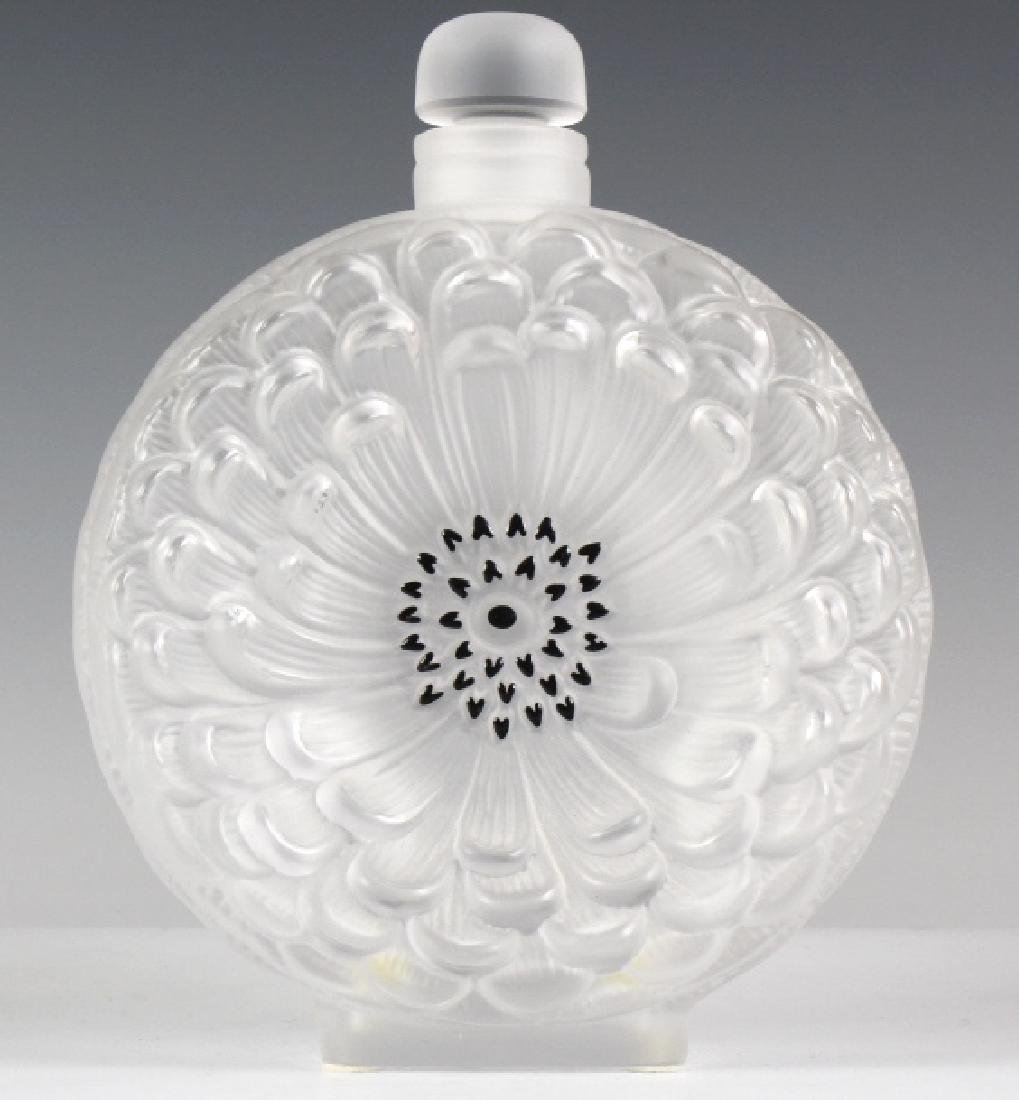 LALIQUE French Art Glass Dahlia Perfume Bottle - 3