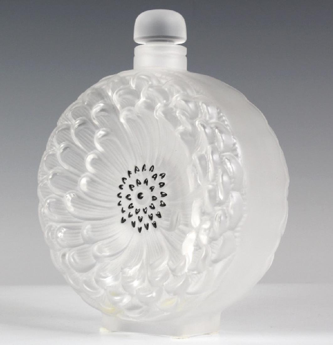 LALIQUE French Art Glass Dahlia Perfume Bottle - 8