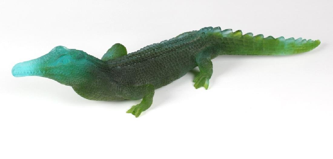 "Daum Pate De Verre French Art Glass Alligator 20"" - 3"