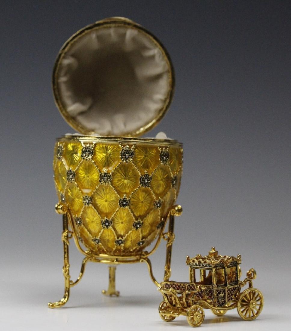 FABERGE Imperial Coronation LE Egg w/ Carriage MIB - 4