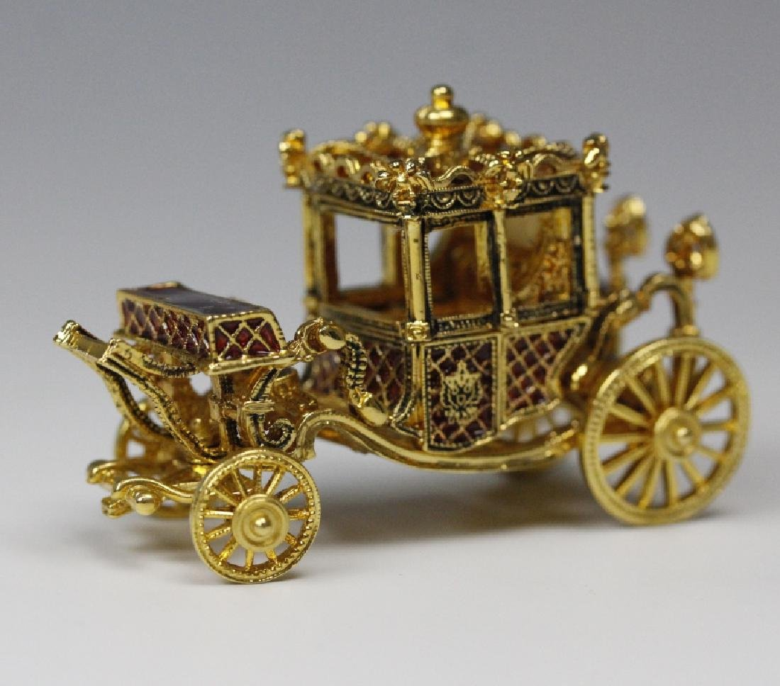 FABERGE Imperial Coronation LE Egg w/ Carriage MIB - 6