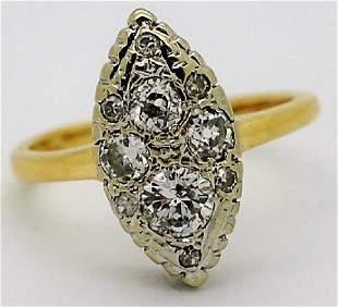 Fine 14k Two Tone 70 Ct TW Diamond Cluster Ring