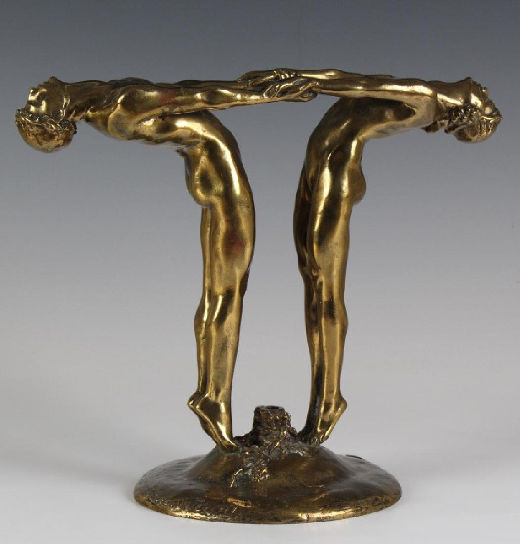 Maude Jewett Bronze DECO Bacchante Flower Holder