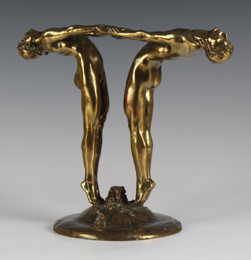 Maude Jewett Bronze DECO Bacchante Flower Holder - 5