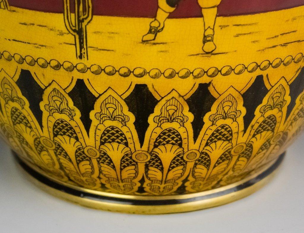Royal Doulton Morrisian Ware Pottery Jardiniere - 3