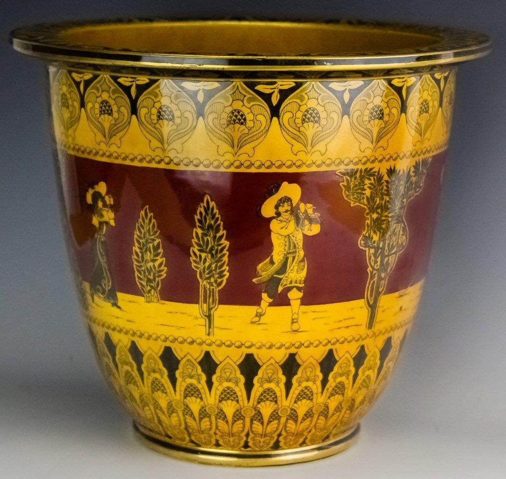 Royal Doulton Morrisian Ware Pottery Jardiniere - 4