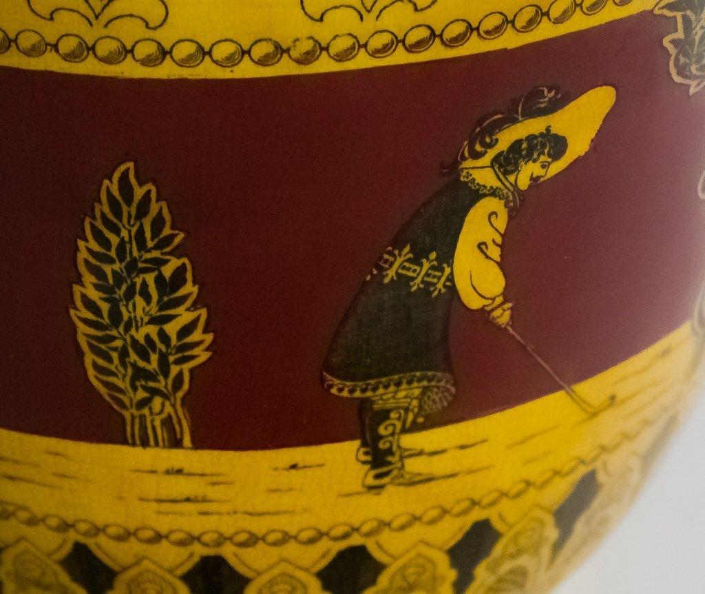 Royal Doulton Morrisian Ware Pottery Jardiniere - 6