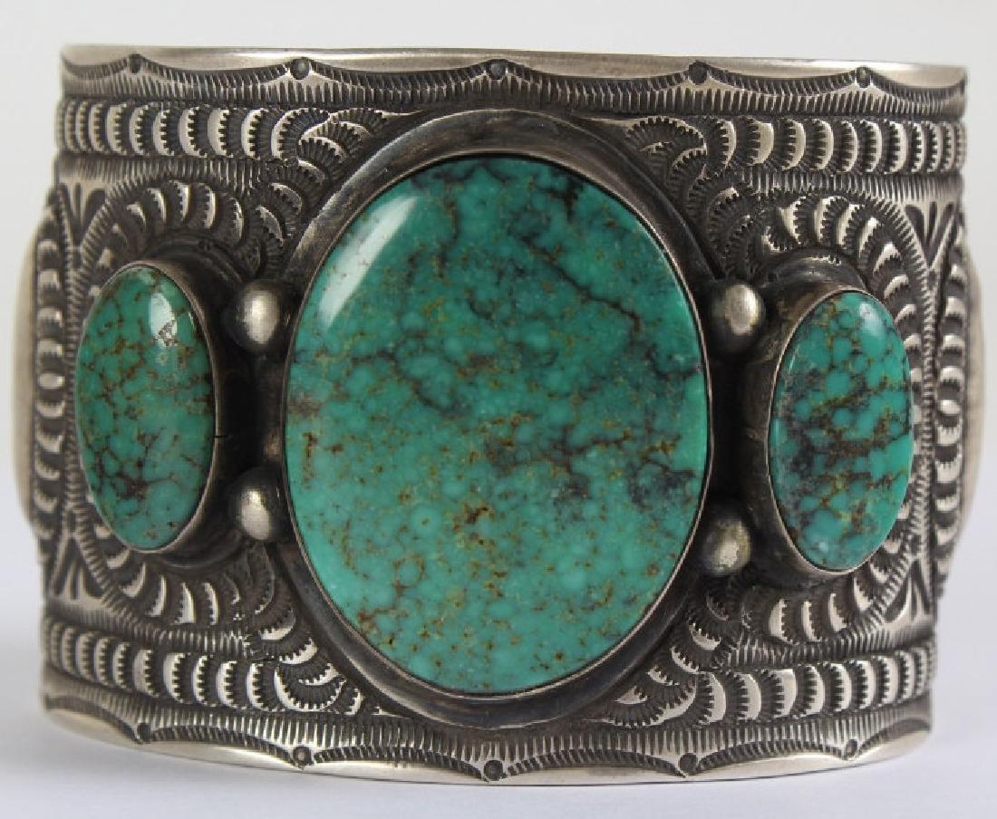 Herman Smith Navajo Sterling Silver Cuff Bracelet