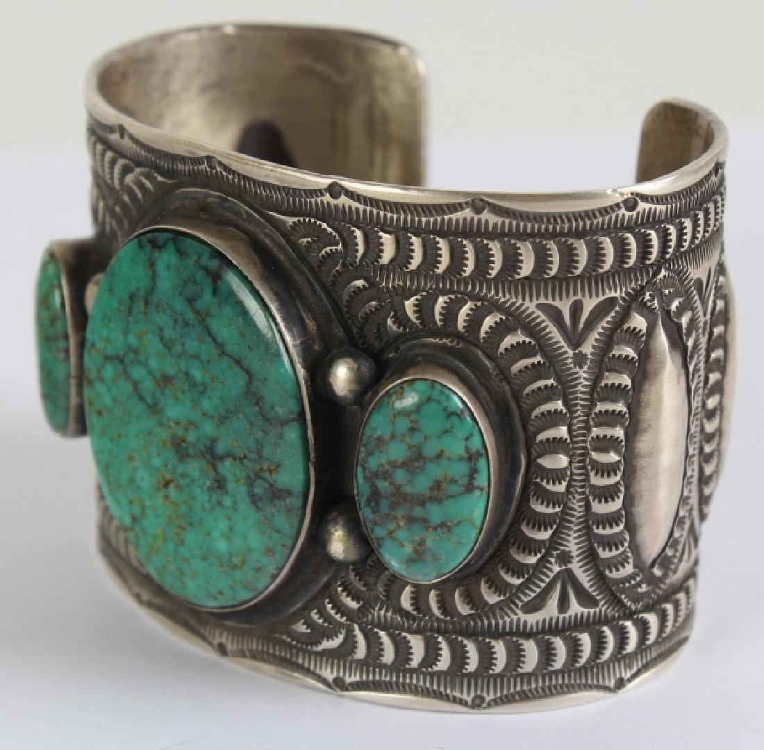 Herman Smith Navajo Sterling Silver Cuff Bracelet - 2