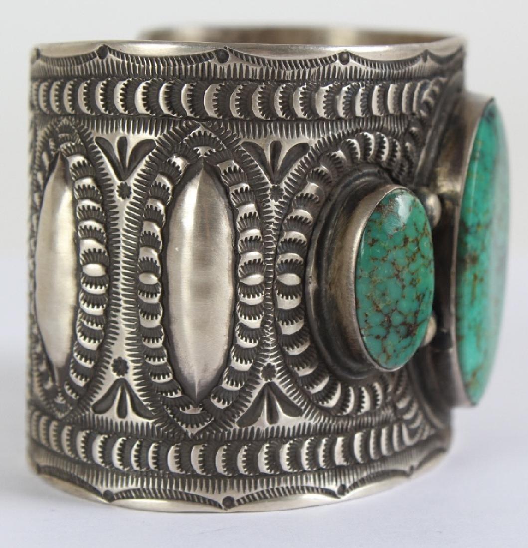 Herman Smith Navajo Sterling Silver Cuff Bracelet - 3