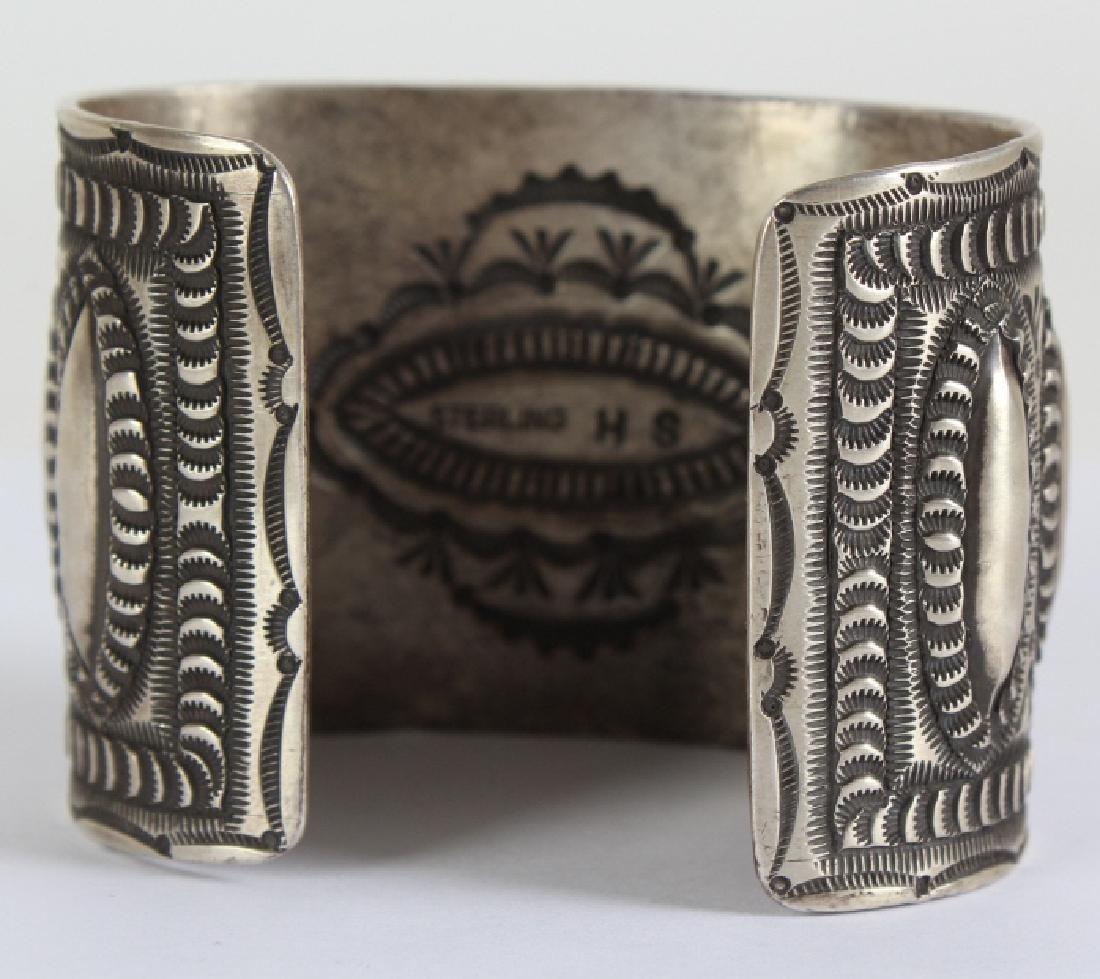 Herman Smith Navajo Sterling Silver Cuff Bracelet - 4