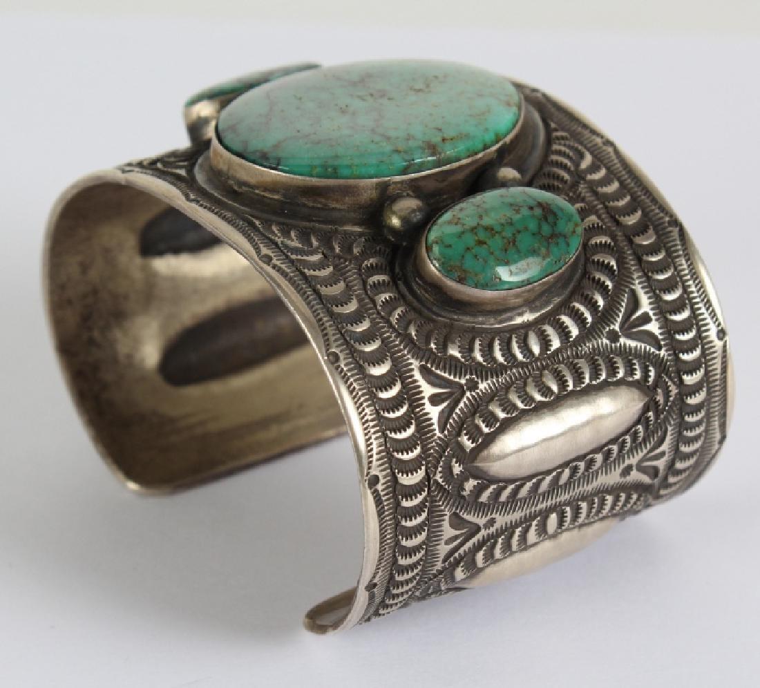Herman Smith Navajo Sterling Silver Cuff Bracelet - 6