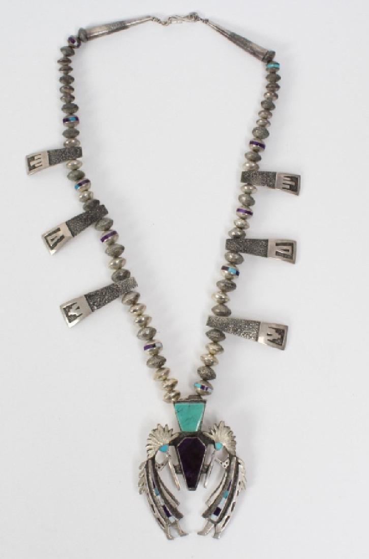 L ELK Native American Indian Gemstone Necklace