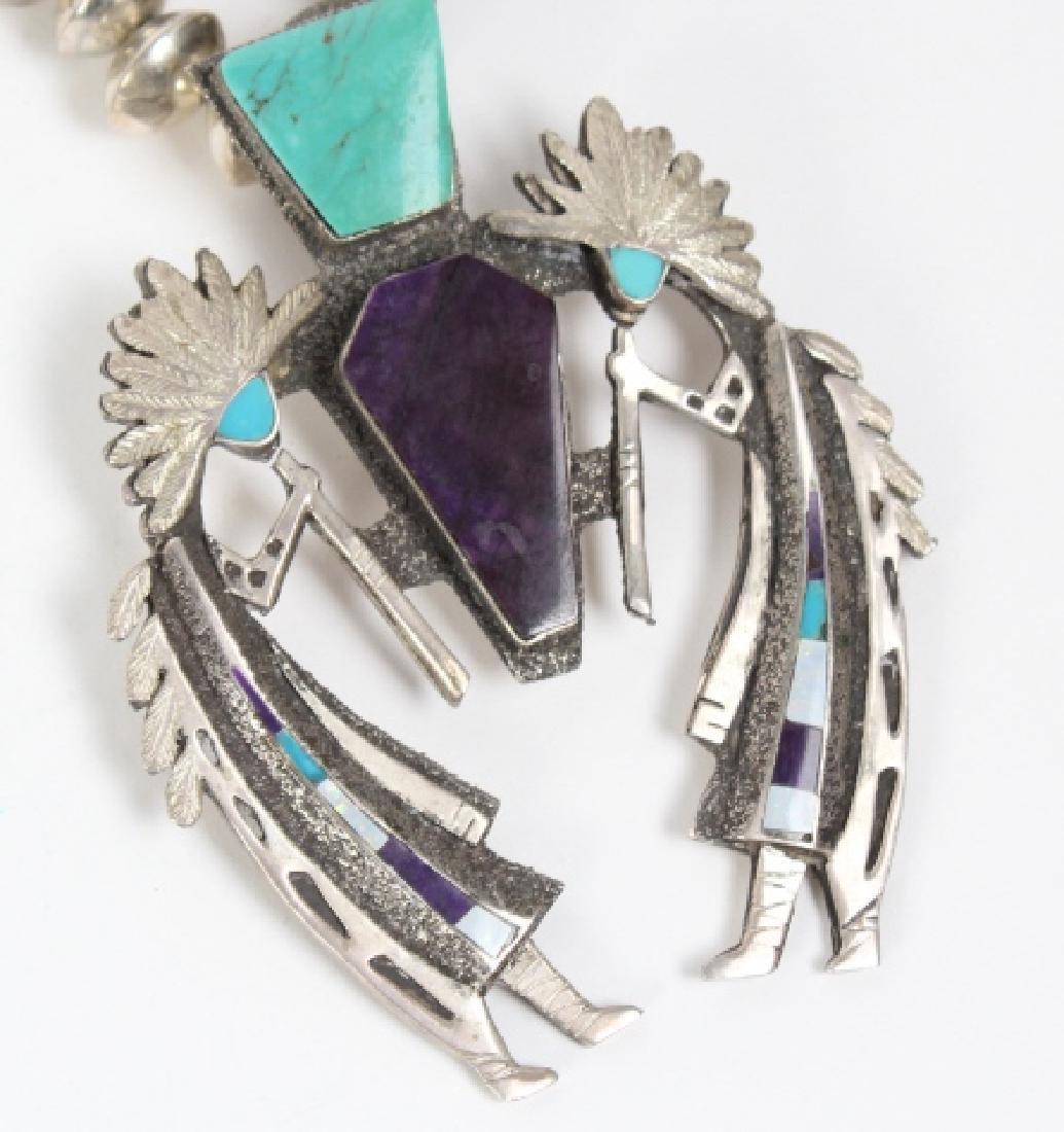 L ELK Native American Indian Gemstone Necklace - 2