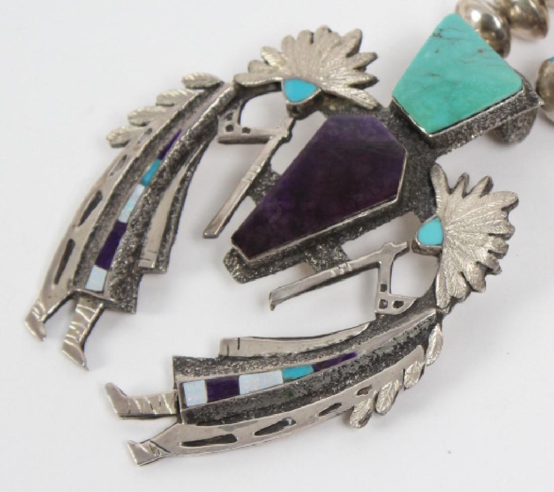 L ELK Native American Indian Gemstone Necklace - 4
