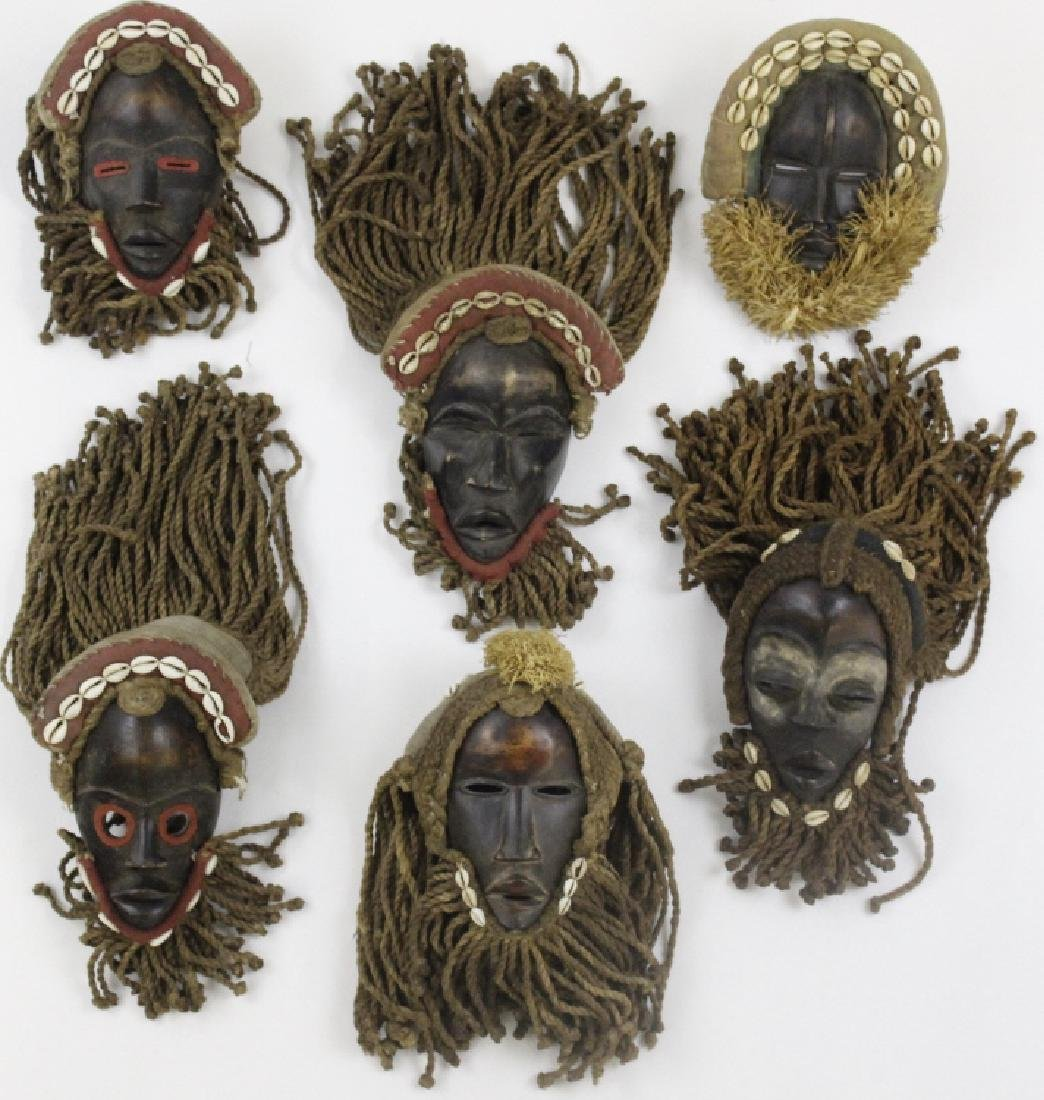 Lot of 6 African Liberian Dan Tribal Gle Ge Masks - 9