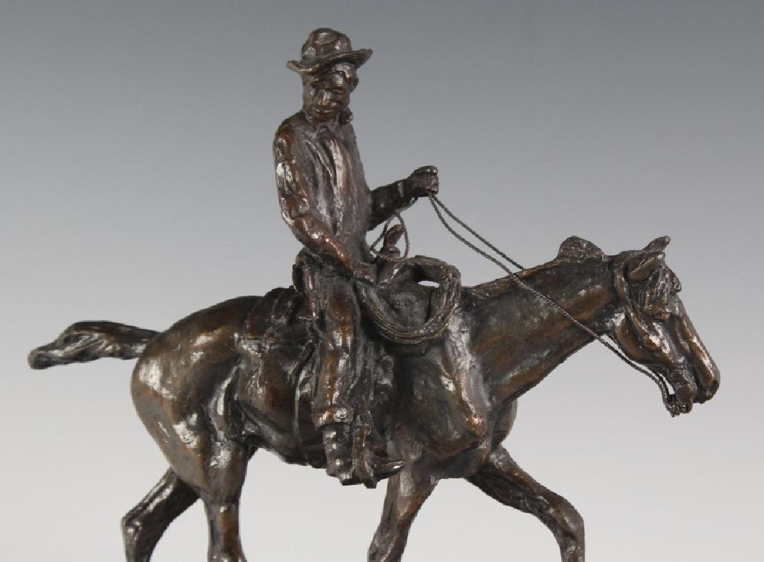 Will Rogers Western Cowboy Bronze Statue Russell - 2