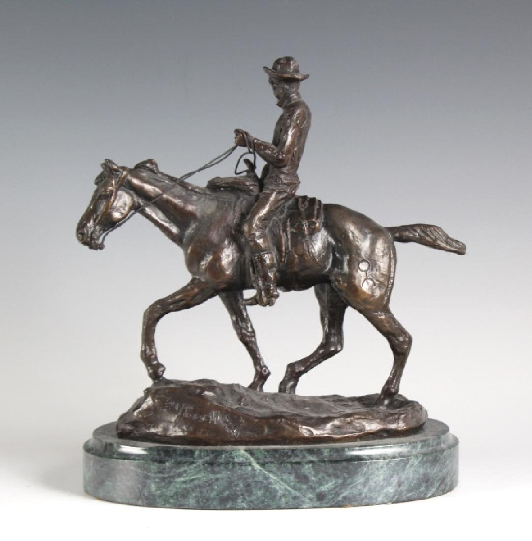Will Rogers Western Cowboy Bronze Statue Russell - 4