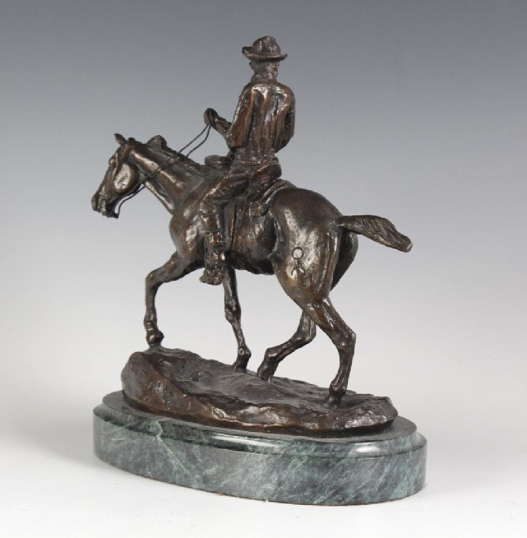 Will Rogers Western Cowboy Bronze Statue Russell - 5
