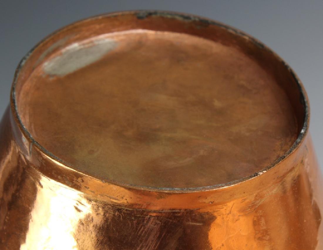 Pair Hand Hammered Copper Arts & Crafts Ewer Jug - 6