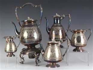 Roberts Belk Sheffield Egyptian Revival Tea Set