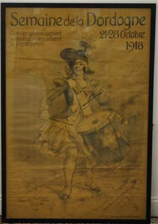Adolphe Willette 1857 1926 Antique French Poster
