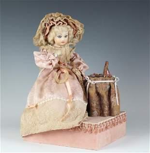 Reuge Crying Girl Automaton Swiss Doll Music Box