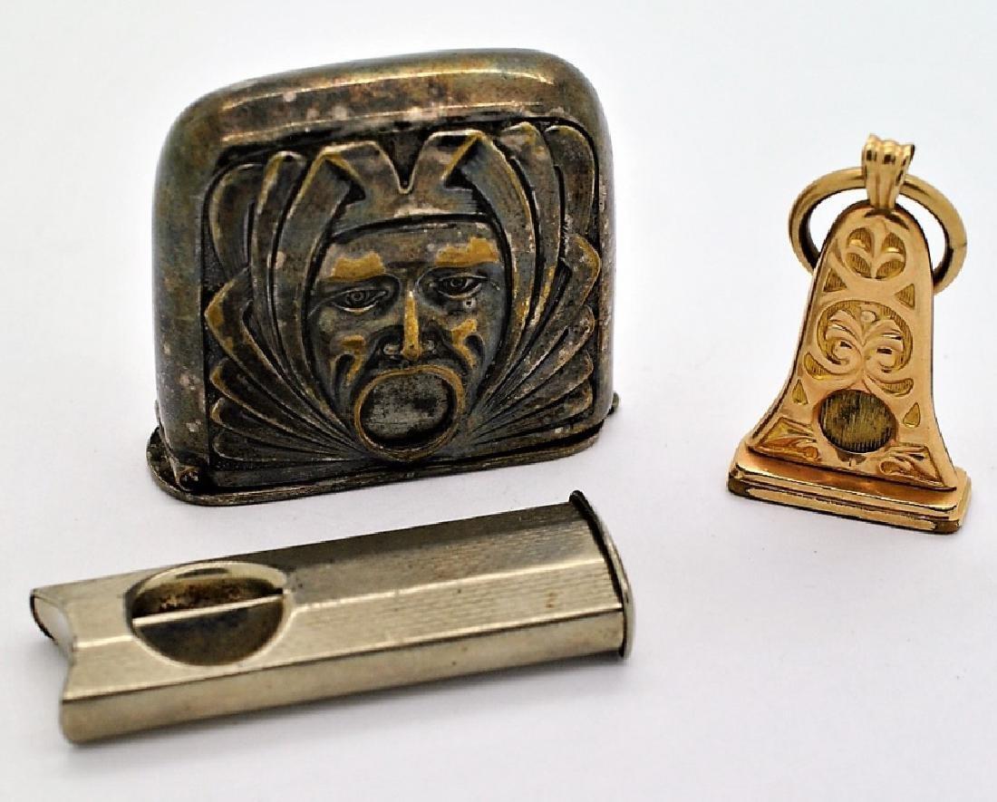 3 Gold & Silver Plated Art Deco Cigarette Cutters