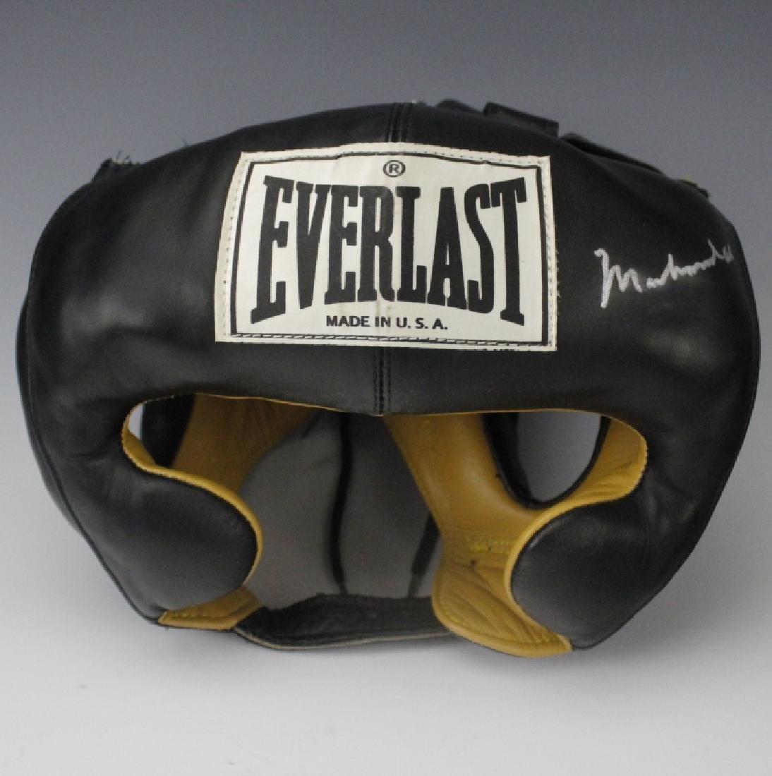 SIGNED Muhammad Ali Boxing Head Gear w/ JSA COA