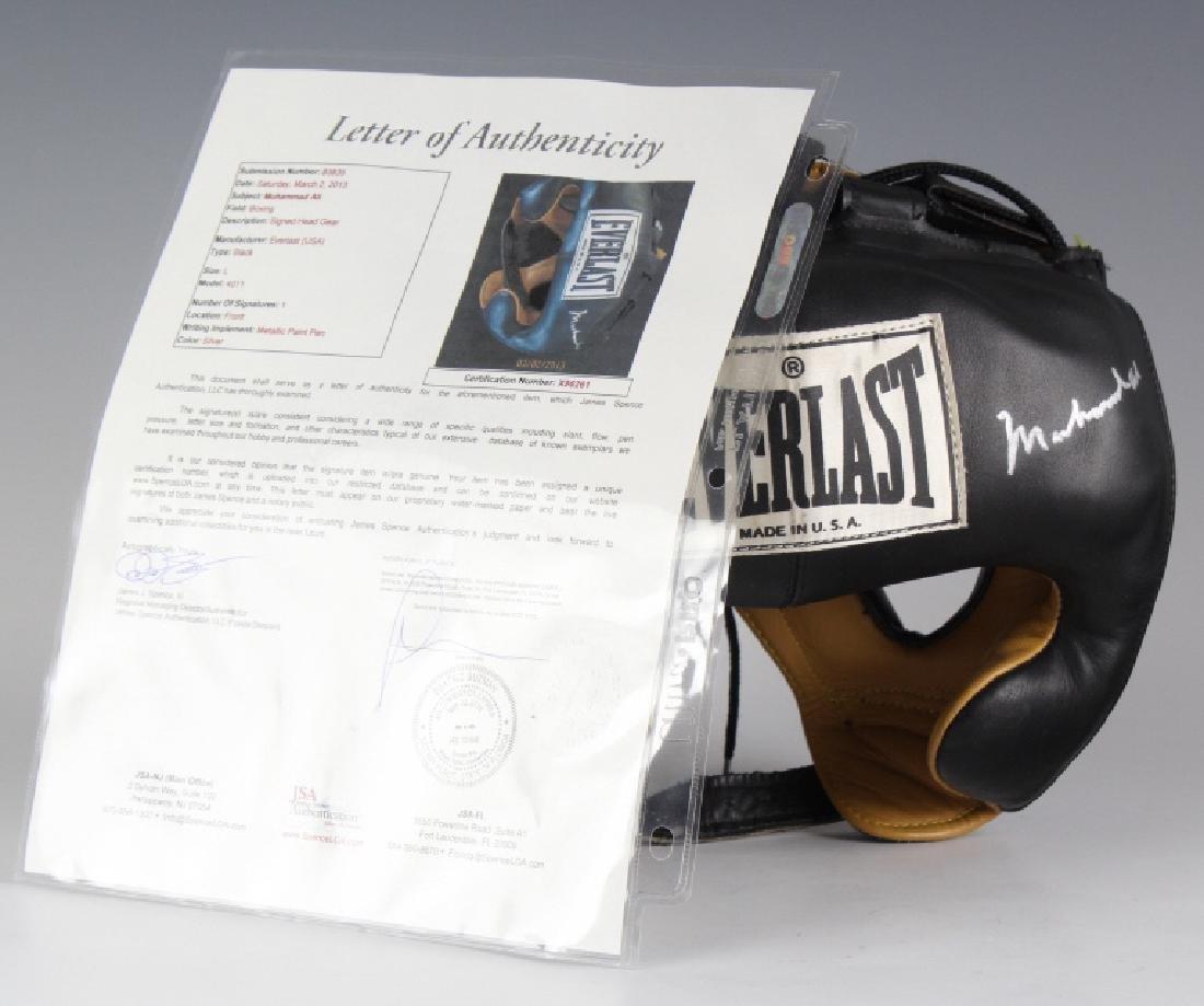 SIGNED Muhammad Ali Boxing Head Gear w/ JSA COA - 2