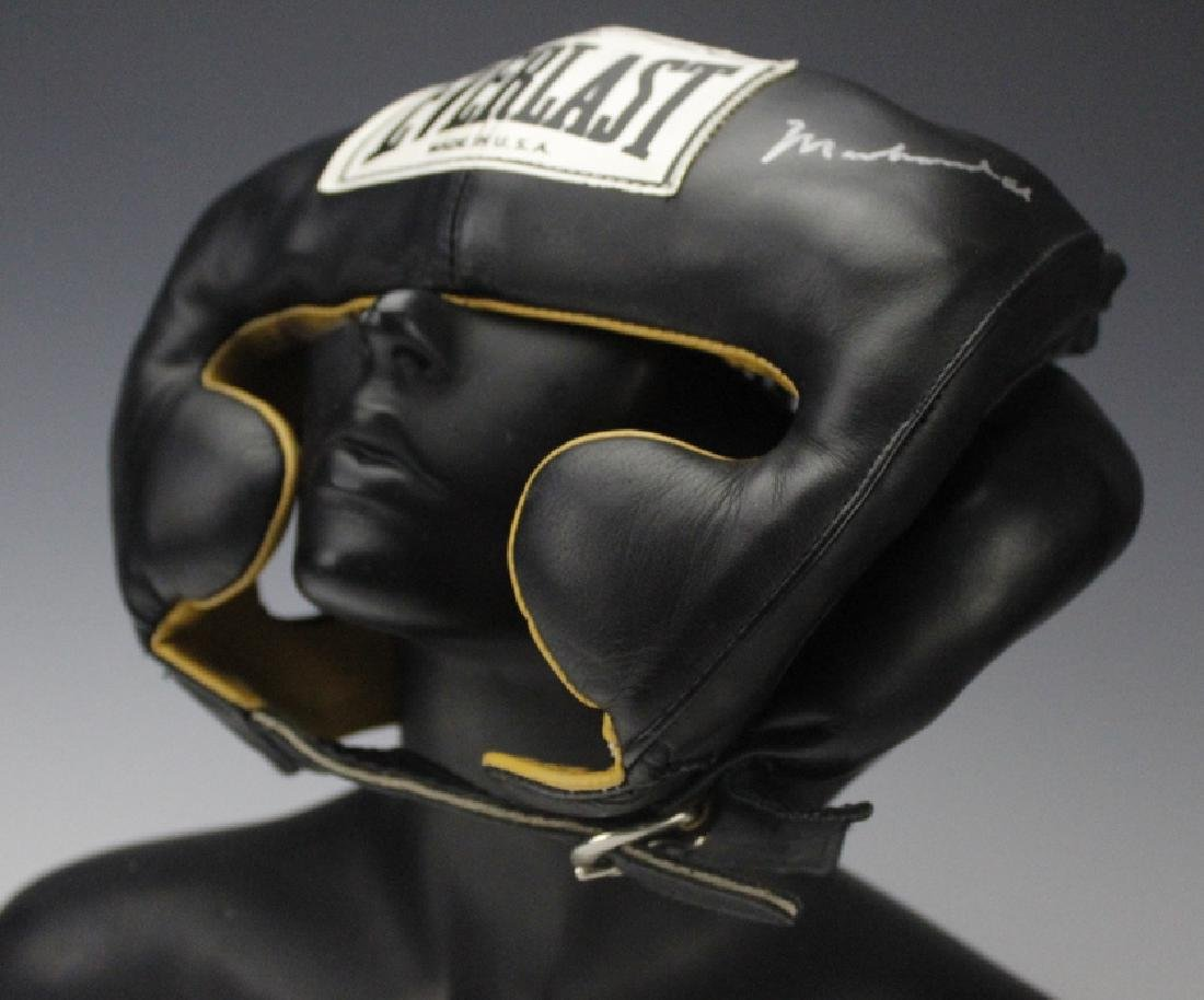 SIGNED Muhammad Ali Boxing Head Gear w/ JSA COA - 3