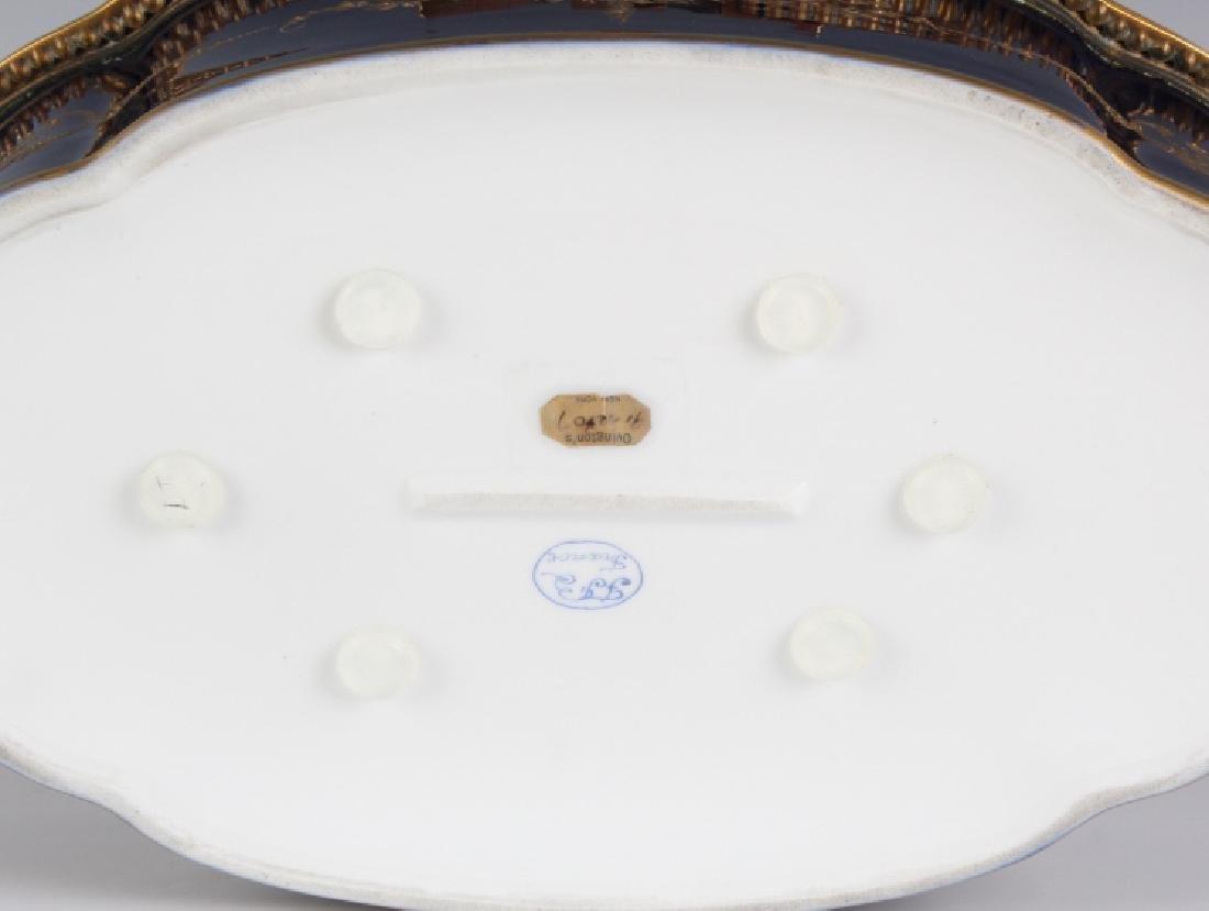 LARGE Sevres Style French Porcelain Casket Box - 9