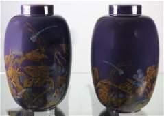 PAIR Rookwood 18 Ginger Jar Vase Jd Wareham 1924 RARE