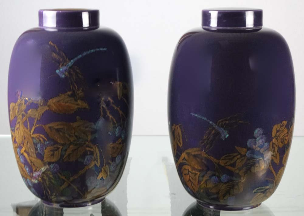 """PAIR Rookwood 18"""" Ginger Jar Vase J.d Wareham 1924 RARE"""