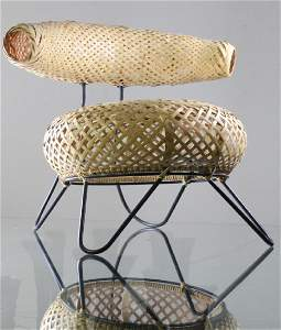 RARE Noguchi & Kenmochi Prototype Bamboo Basket Chair