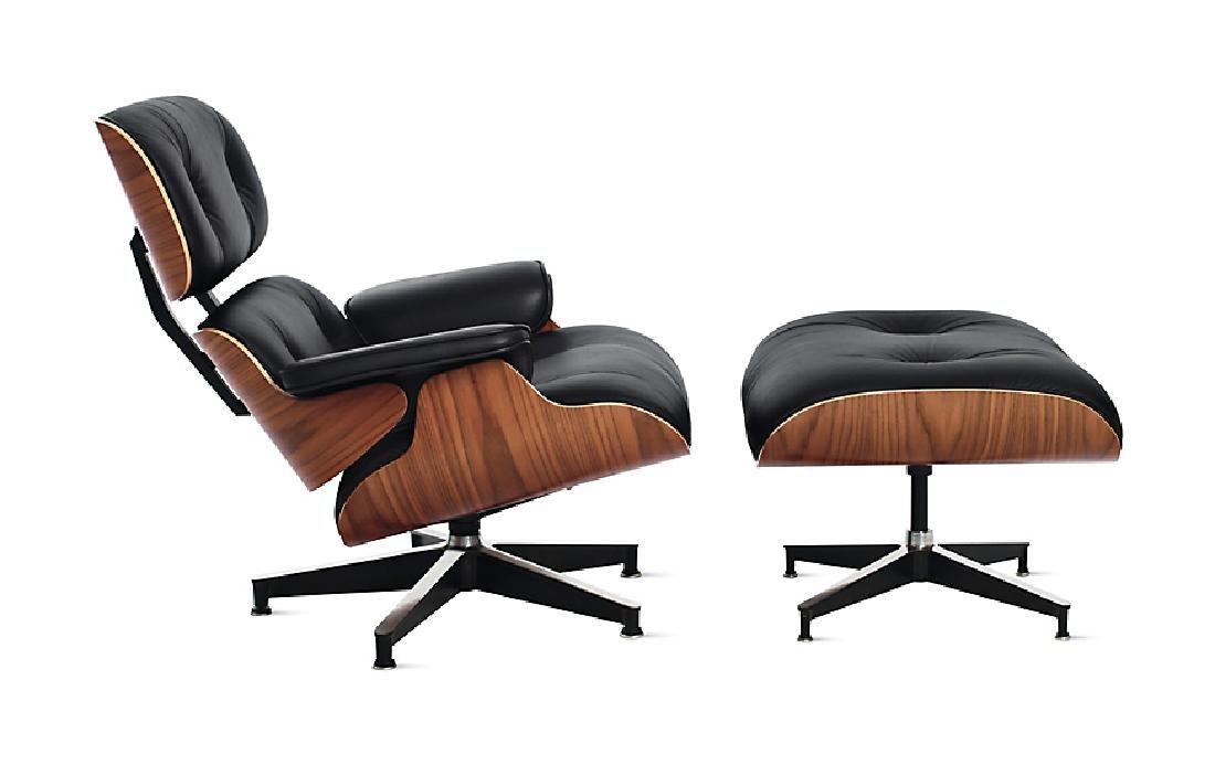 Charles & Ray Eames Lounge Chair w Ottoman 670 671