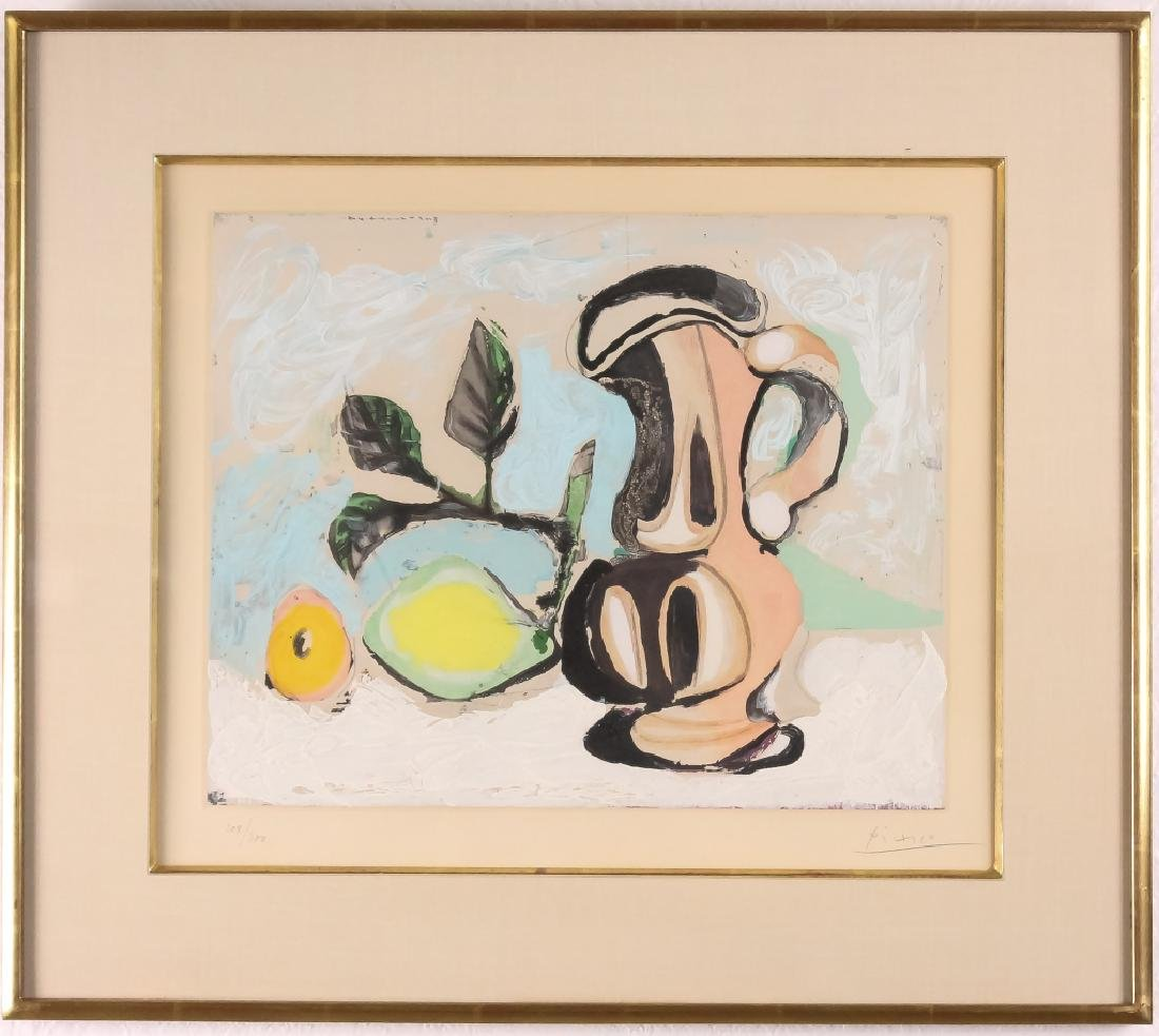 Pablo Picasso Red Pitcher & Lemon Aquatint HAND SIGNED