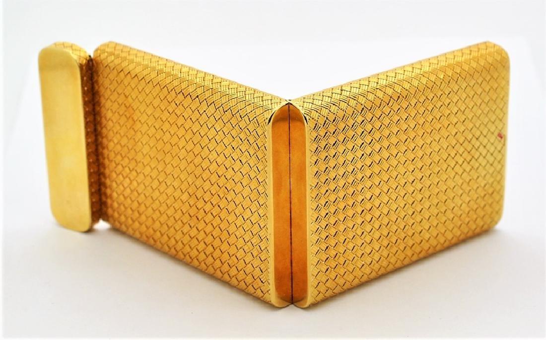 Van Cleef & Arpels VCA 18K Gold Basket Weave Card Case